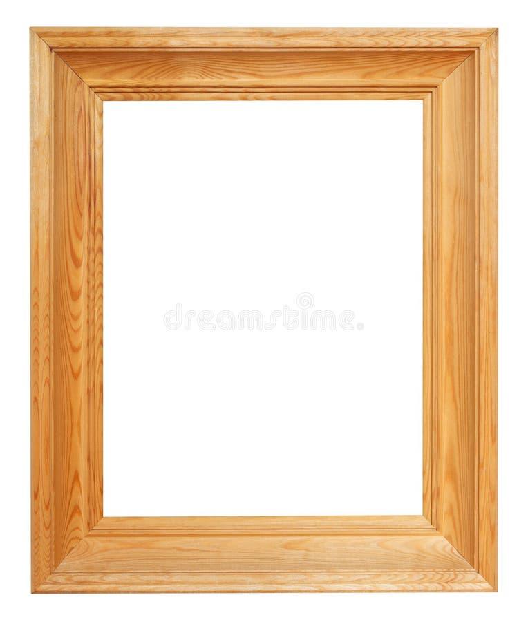 Ram för bild för vertikal enkel sned bollbrunt trä royaltyfria bilder