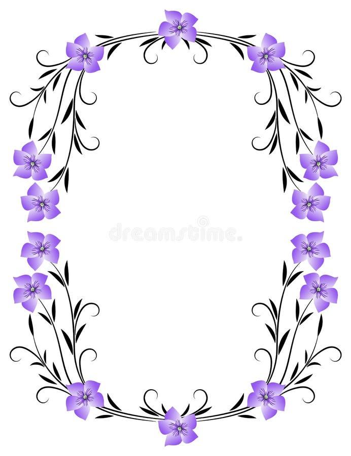 Ram för blom- prydnad stock illustrationer
