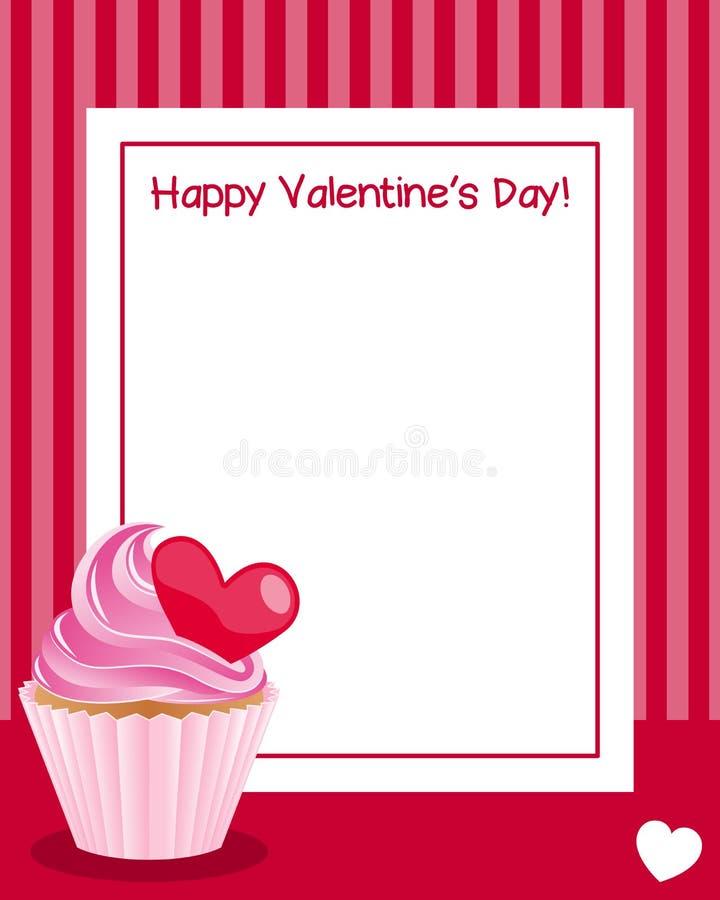 Ram för dag för valentin s vertikal vektor illustrationer