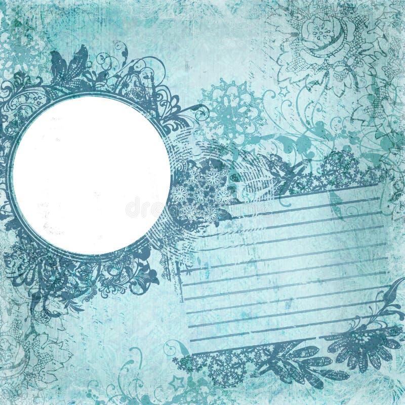 ram för design för artistibakgrundsbatik blom- vektor illustrationer