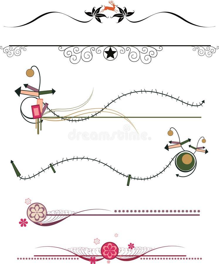 ram för kantdesignelement stock illustrationer