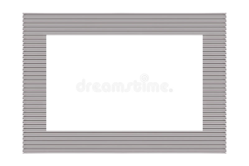 Ram för metallsilverbild royaltyfri foto