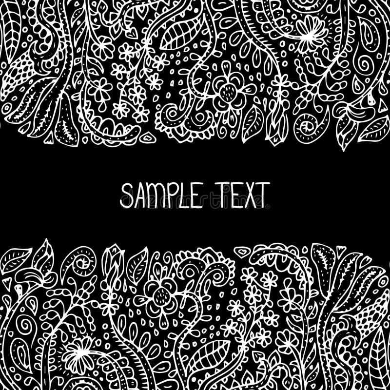 Ram för modell för abstrakt blom- vektor för person som tillhör en etnisk minoritet sömlös Kan användas för banret, kortet, affis stock illustrationer