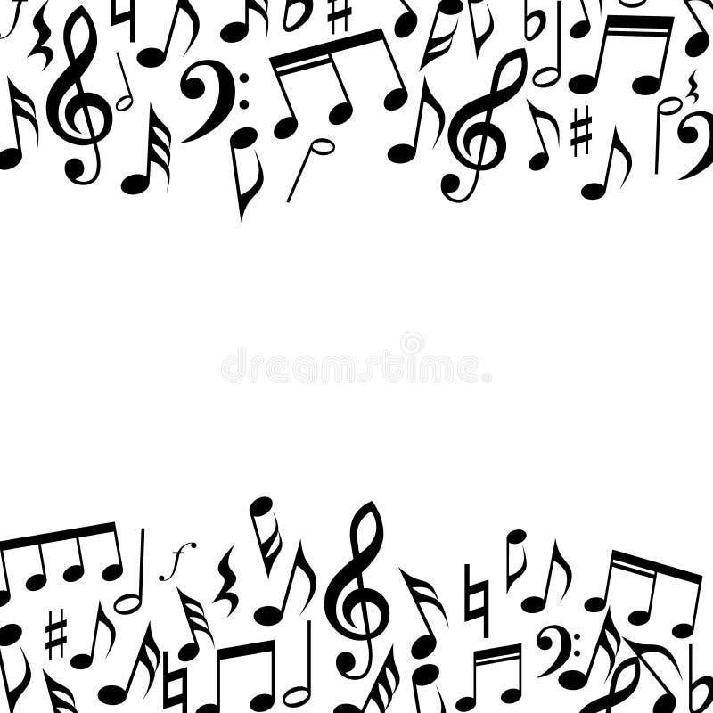Ram för musikfyrkantgräns Musik noterar bakgrundsramen vektor illustrationer