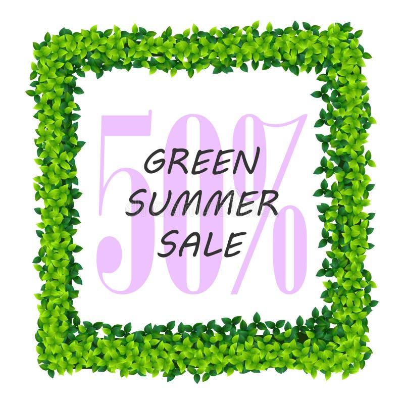 Ram för sommarförsäljningsgräsplan royaltyfri illustrationer
