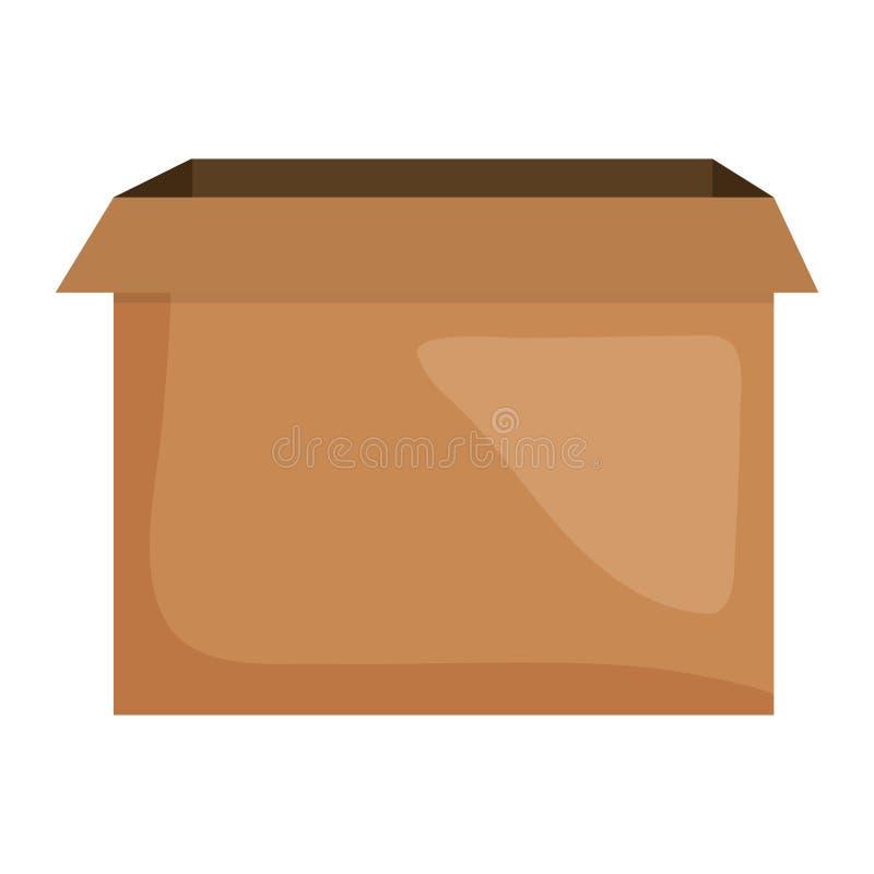 Ram för symbol för lådaask packande fyrkantig och illustraitor för födelsedagbeståndsdelvektor vektor illustrationer