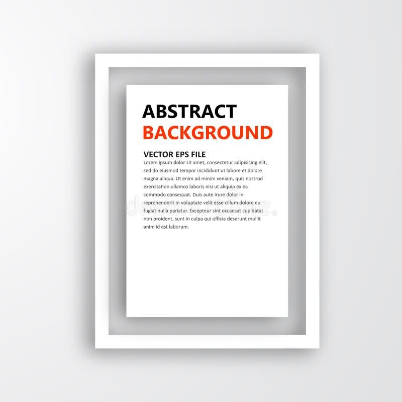 Ram för vektor 3D. Design för bild stock illustrationer