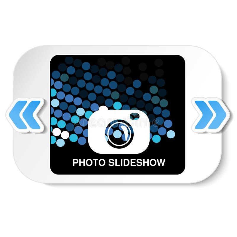 Ram för websiteslideshow, presentation eller serie av projekterade bilder, fotografiska glidbanor eller online-orientering för fo royaltyfri illustrationer