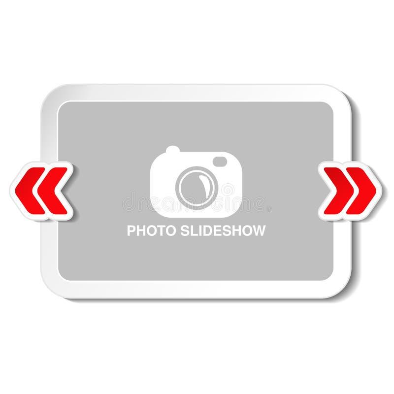 Ram för websiteslideshow, presentation eller serie av projekterade bilder, fotografiska glidbanor eller online-orientering för fo vektor illustrationer