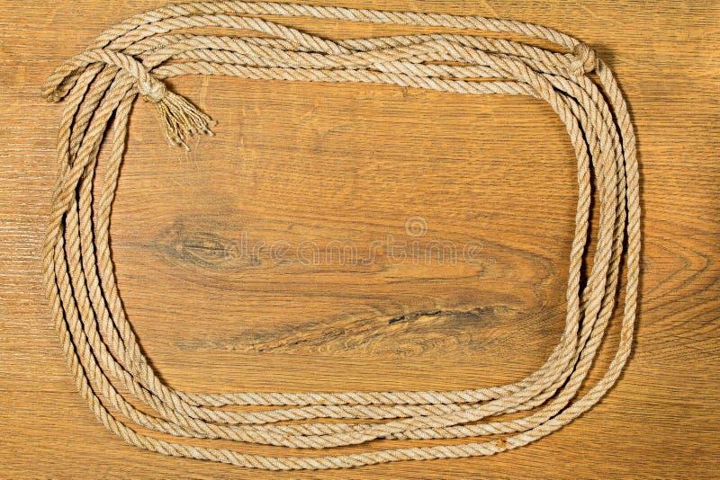 Ram från gammalt grovt rep royaltyfri fotografi