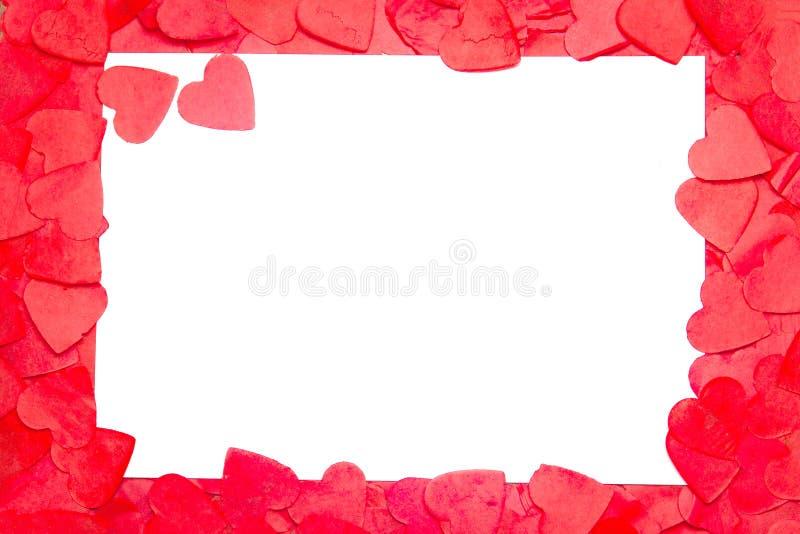 Ram från hjärtan, plats för text Alla hjärtans dag royaltyfri foto