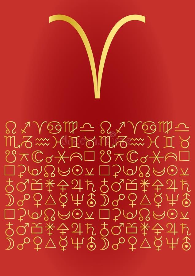 Ram, groetkaart royalty-vrije illustratie