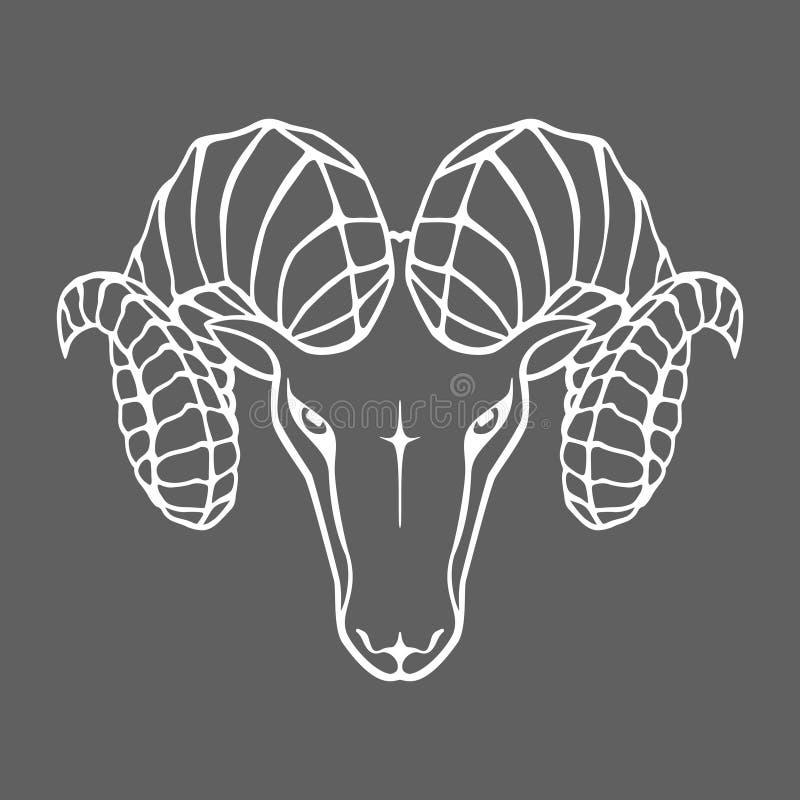Ram Head Widderzeichen lizenzfreie abbildung