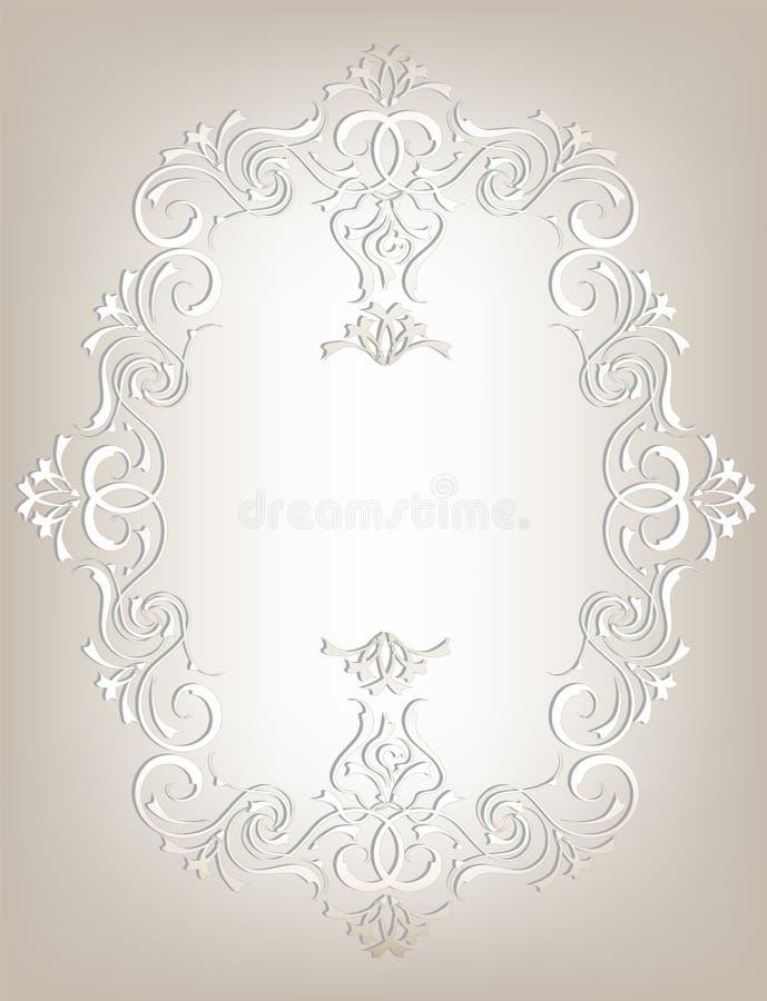 Ram I Den Art Nouveau Stilen Arkivbilder