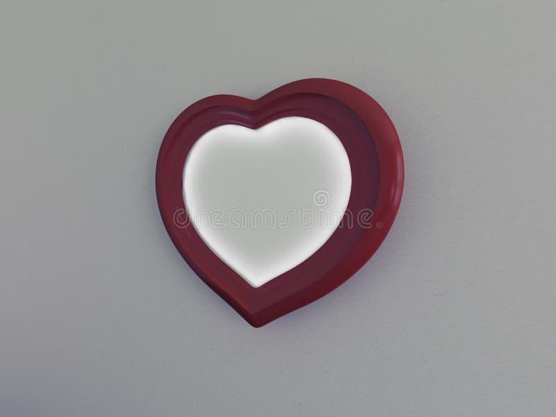 Ram i formen av en hjärta på en vägg royaltyfri illustrationer