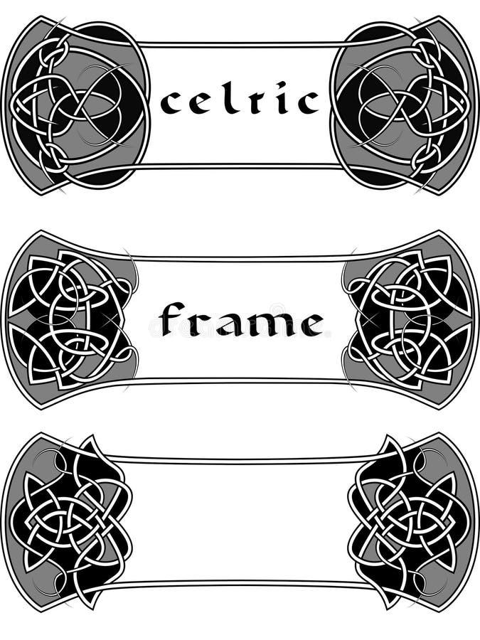 Ram i keltisk stil royaltyfri illustrationer