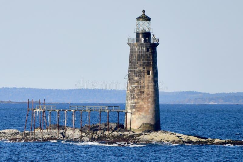 Ram Island Ledge Light foto de stock