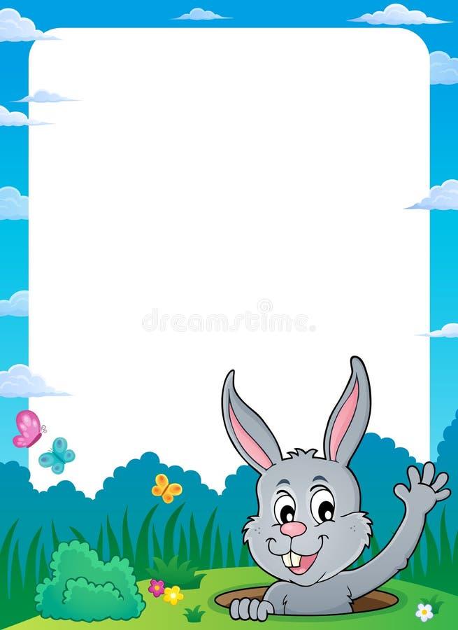 Ram med att lura tema 1 för påskkanin vektor illustrationer