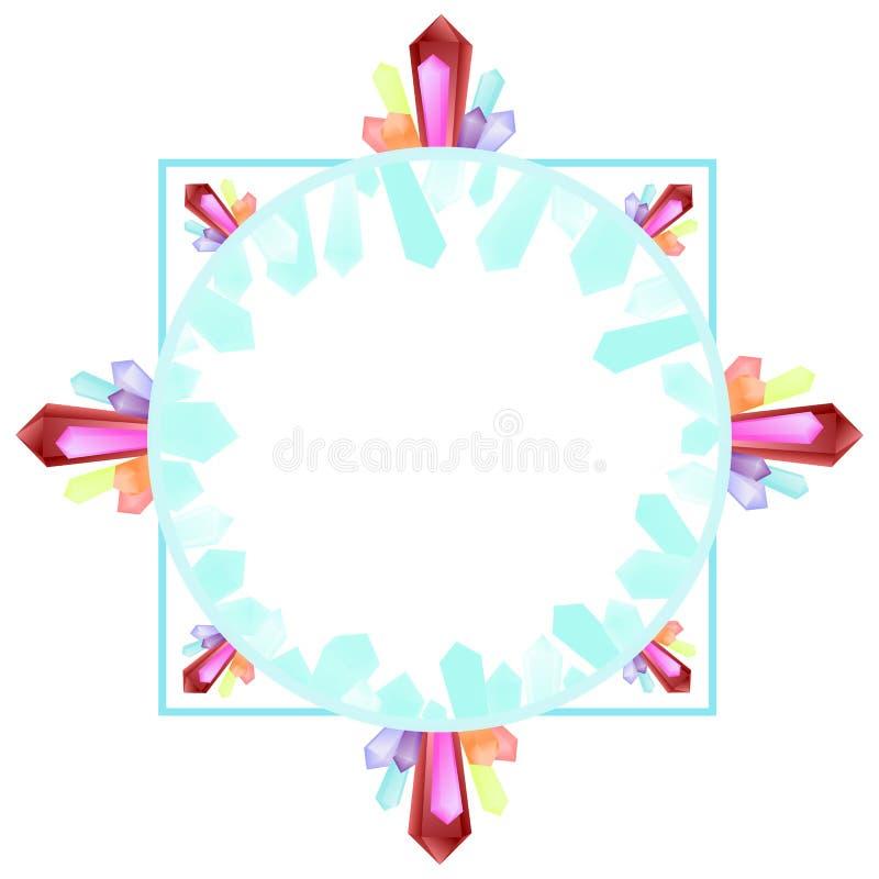 Ram med druzekristaller arkivfoton