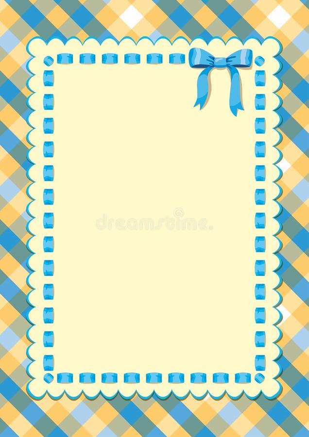 Ram med ett blått band stock illustrationer