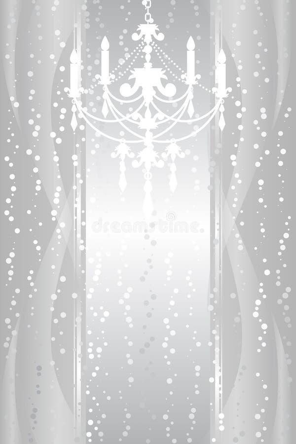 Ram med ljuskronan vektor illustrationer