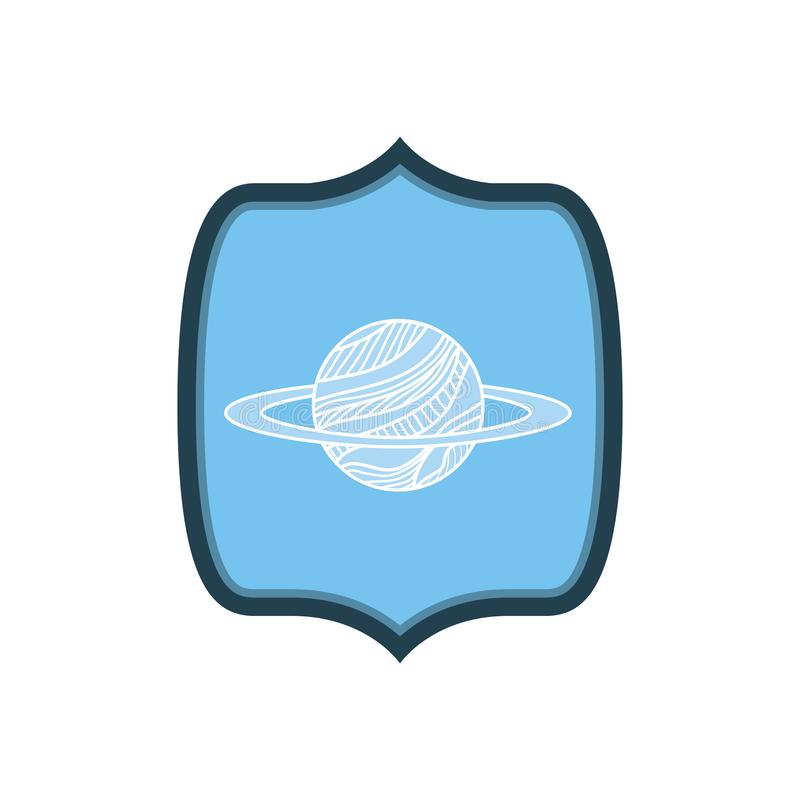 Ram med planeten av solsystemet vektor illustrationer