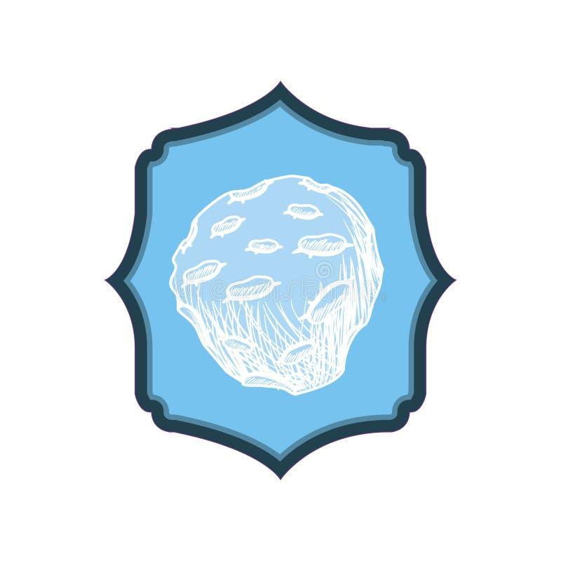 Ram med planeten av solsystemet royaltyfri illustrationer