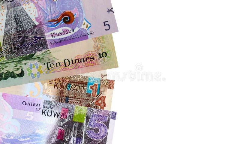 Ram med sedlar för kuwaitisk dinar royaltyfri fotografi