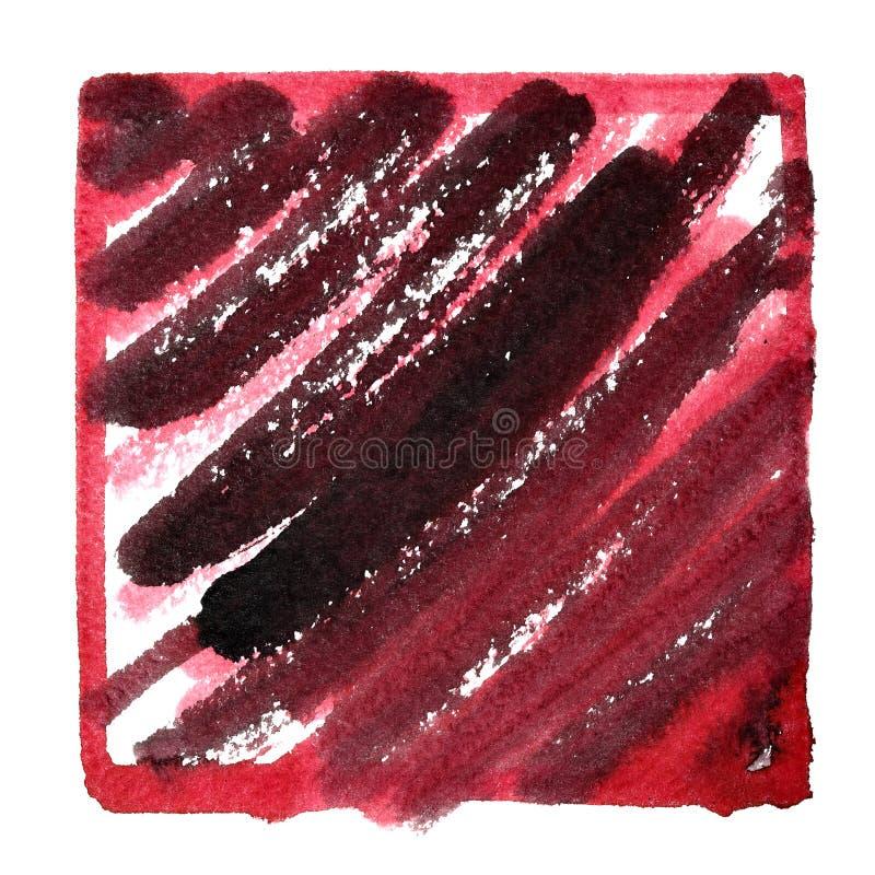 Ram med smutsigt rött klotter stock illustrationer