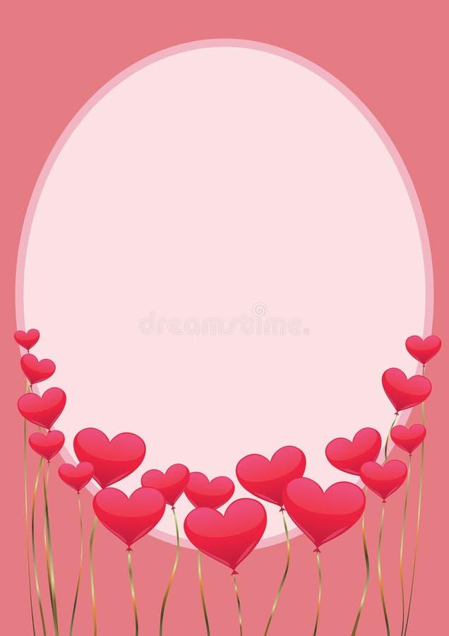 Ram med vertikala hjärtor arkivfoto