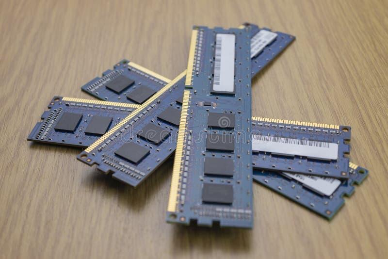 RAM memory module stock image