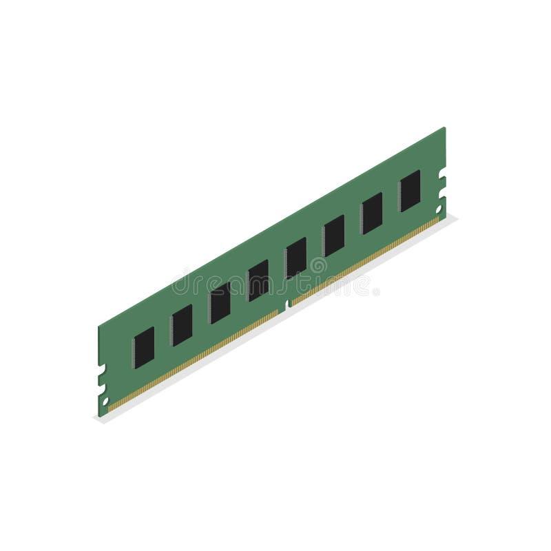 RAM-module in 3D, vectorillustratie vector illustratie