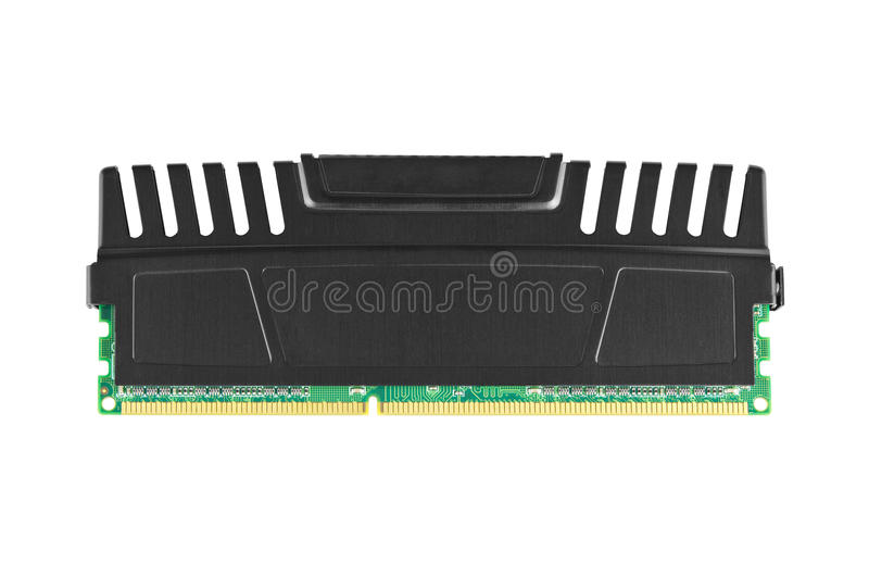 Ram Module With Heat Spreader Royalty Free Stock Photo