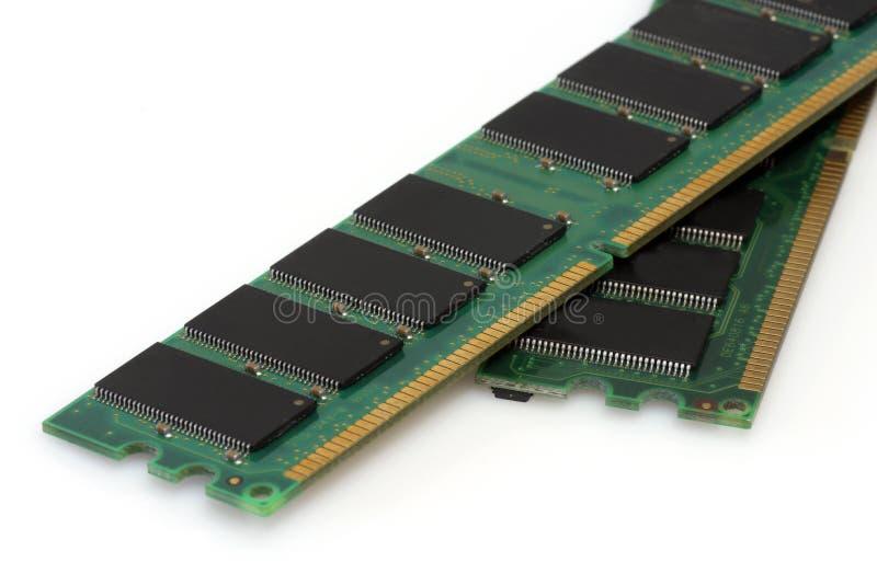 RAM modules. On bright background stock image
