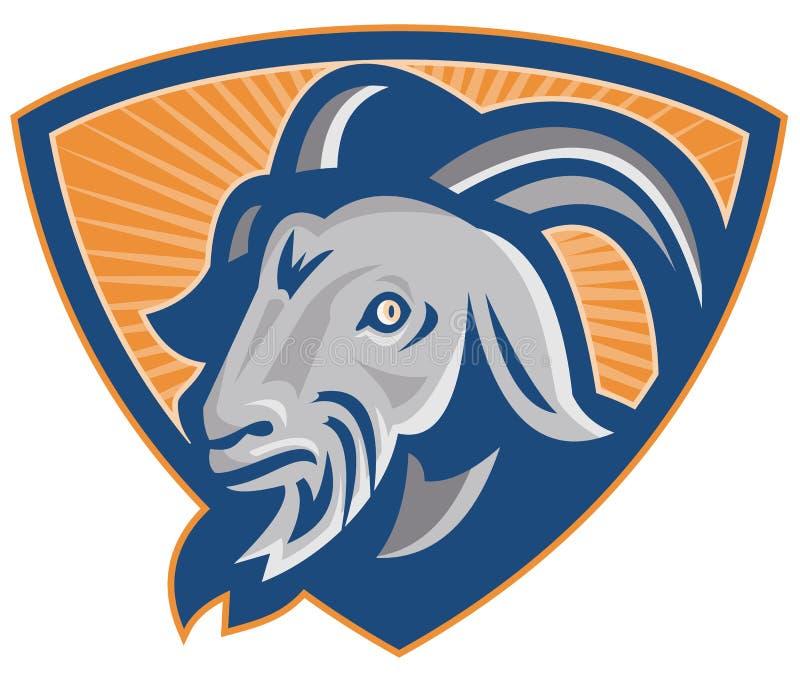 Ram Mountain Goat Shield stock de ilustración