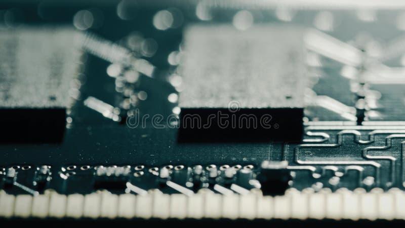 RAM ou chipset da memória de acesso aleatório, macro imagens de stock