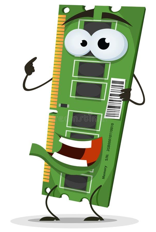 RAM pamięci karty charakter ilustracja wektor