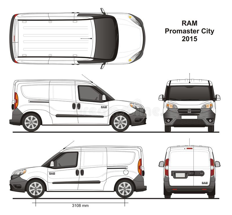 Free Ram Promaster City Cargo Delivery Van 2015 Royalty Free Stock Image - 111514926