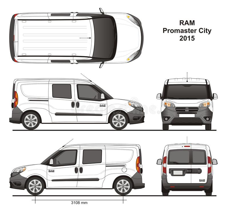 Free Ram Promaster City Combi Delivery Van 2015 Stock Images - 111514844