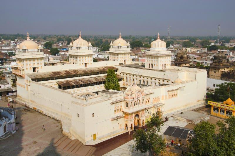 Ram Raja Temple Orchha Estado de Madhya Pradesh de Índia imagem de stock royalty free