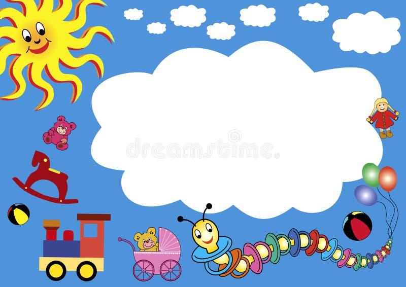 ram reklamowe zabawki ilustracji
