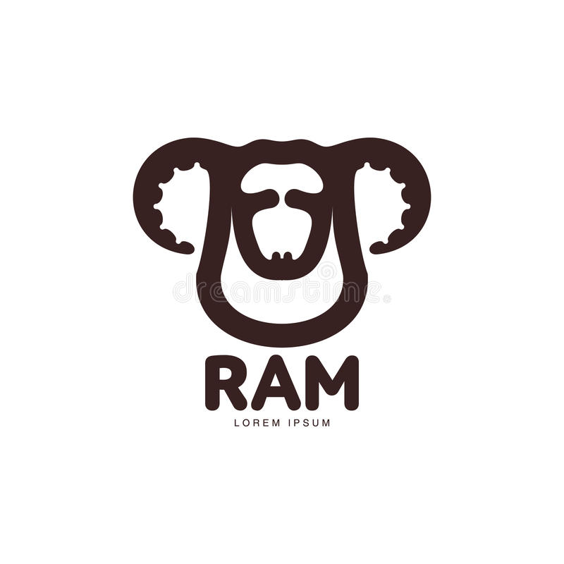 Download Ram Sheep Lamb Head Graphic Logo Template Stock Vector