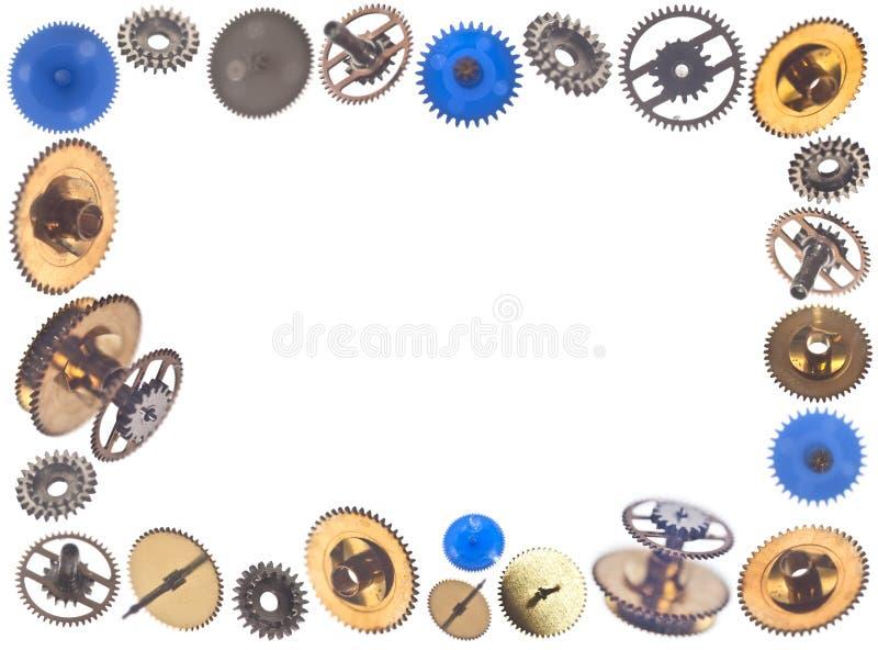 Ram som göras av gearweels royaltyfri bild