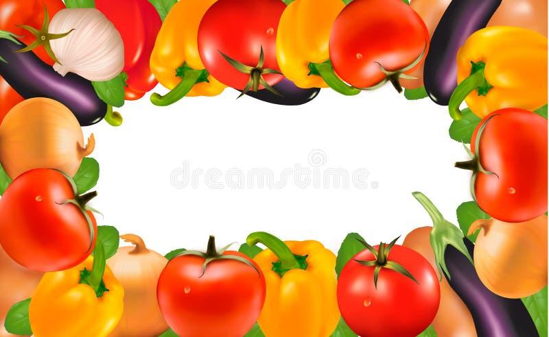 Ram som göras av grönsaker royaltyfri illustrationer