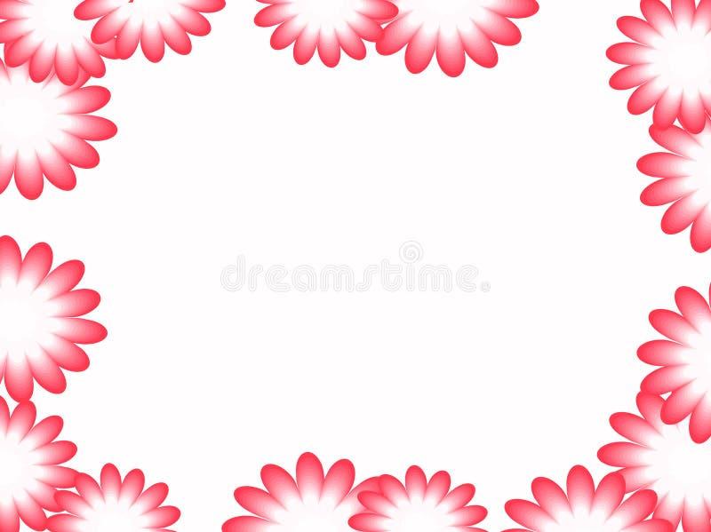 Ram som göras av rosa blommor vektor vektor illustrationer