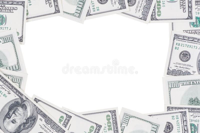 Ram som göras av 100 US dollar royaltyfria foton