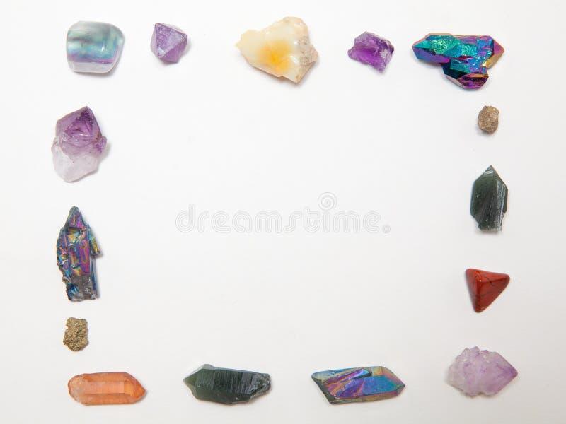 Ram som göras från att läka kristaller arkivbilder