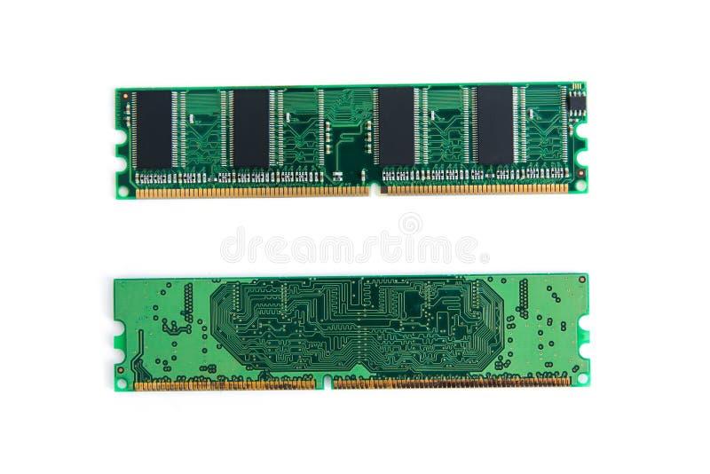 RAM Stick del ordenador (memoria de acceso aleatorio) aislado en blanco fotografía de archivo libre de regalías