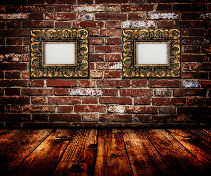 ram złota ściana obraz stock