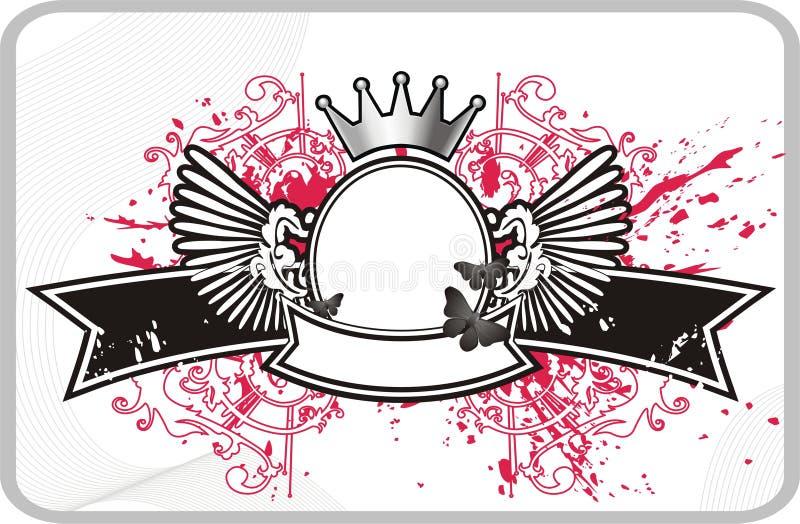 rama banner korony ilustracja wektor